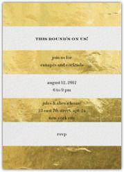 Kate Spade for Paperless Post - Evergreen Stripes - Gold metallic