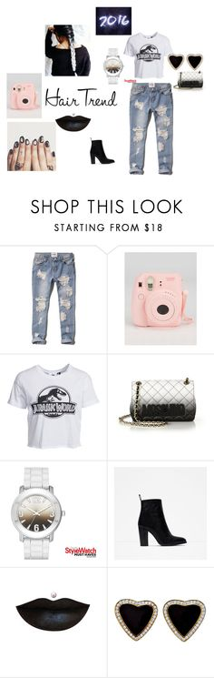 """""""grunge ombre"""" by fyichristine on Polyvore featuring Abercrombie & Fitch, New Look, Moschino, Zara, women's clothing, women's fashion, women, female, woman and misses"""