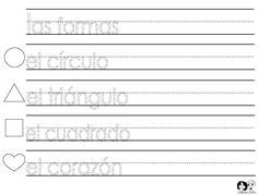 Spanish for Kids Shapes Printout