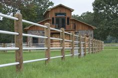 Building a Fence for horses Horse Arena, Horse Stables, Horse Farms, Pipe Fence, Farm Fence, Log Fence, Wood Fences, Ranch Fencing, Horse Barn Plans