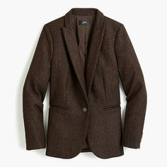 Shop J.Crew for the Petite Parke blazer in English herringbone wool for Women. Find the best selection of Women Clothing available in-stores and online. Prep Style, My Style, Herringbone Blazer, Fall Capsule Wardrobe, Beautiful Outfits, Beautiful Clothes, Cashmere Sweaters, Mens Suits, Spring Summer Fashion