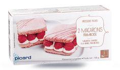 2 raspberry macarons