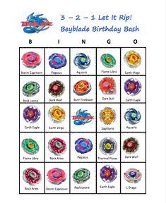 Beyblade Bingo