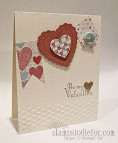 Stampin' Up! Hearts a Flutter Valentine Card Pennant