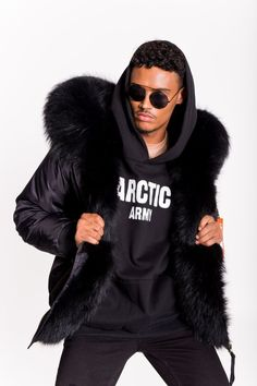 ARCTIC SUPER LUX BOMBER - BLACK / BLACK - MEN'S