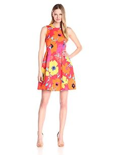 Anne Klein Women's Printed Scuba Seamed Fit and Flare Dress  http://stylexotic.com/anne-klein-womens-printed-scuba-seamed-fit-and-flare-dress/
