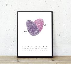 Personalized Thumbprint Wedding Poster - Wedding Guest Book - Lesbian Wedding Gift