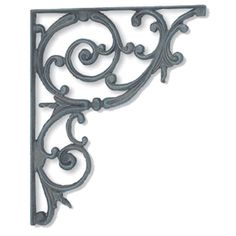 The tasteful elegance of the classic scroll bracket makes it easy to incorporate into your homes design.