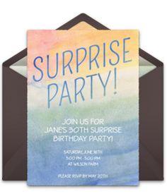 Free Martini Shaker Invitations