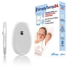 SimplyTemp24 - termometro bluetooth che monitora la temperatura corporea 24 ore su 24 - www.momeme.it