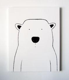 Modern Kids and Nursery Polar Bear Art by adrianeduckworth on Etsy. , via Etsy.