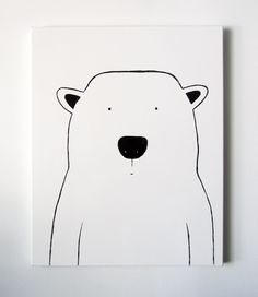Modern Kids and Nursery Polar Bear Art by adrianeduckworth on Etsy,