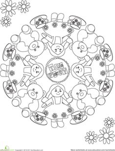 american girl tea party ideas Kids Tea Party Birthday Coloring
