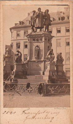 Adolphe Braun - Memorial Gutenberg, Francforte (Gutenberg Memorial, Frankfurt) Frankfurt, 19th Century, Movie Posters, Movies, Photography, Painting, Art, 2016 Movies, Fotografie