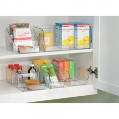 "Linus Packet Organizer - Clear Dimensions: 6""L x 3.25""D x 5.25""H Material: Plastic Color: Clear Great for storing Spice Packets, Instant Hot Cocoa and Tea Packets Great for use in Kitchen, Pantry, Off More"