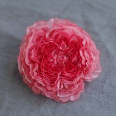 Pure silk flower brooch,hair clip, hand dyed silk flower corsage, Handmade gift,flower jewelry,blossom, pin, hair accessory, by Hwaeun on Etsy