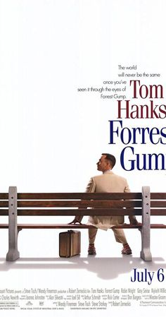 Directed by Robert Zemeckis. With Tom Hanks, Robin Wright, Gary Sinise, Sally Field. JFK, LBJ, Vietnam, Watergate, and other history unfold through the perspective of an Alabama man with an IQ of 75.