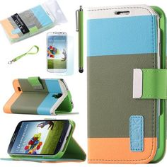 Pandamimi ULAK(TM) Colorful PU Leather Wallet Type Magnet Design Flip Case Cover for Samsung Galaxy S4 Galaxy SIV i9500 + Screen Protector + Stylus(Blue+Brown+Orange) with Auto Wake/Sleep Smart Cover Function by ULAK, http://www.amazon.com/dp/B00CL6X76A/ref=cm_sw_r_pi_dp_aJdLrb1B5SKDP