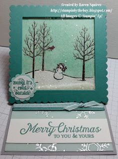 Stampin' By The Bay: Square Easel Shaker Card