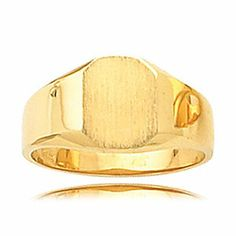 14k Yellow Gold Unisex Octagon Signet Band | Your #1 Source for Jewelry and Accessories