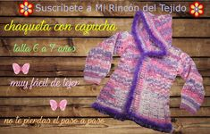 Hermosa chaqueta (cardigan) niña a crochet (ganchillo) tutorial paso a paso - Beautiful crochet girl jacket step by step tutorial Ribbed Crochet, Crochet Coat, Crochet Cardigan, Crochet Clothes, Crochet Girls, Crochet For Kids, Crochet Baby, Sombrero A Crochet, Crochet Videos