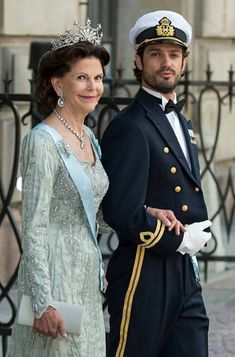 Queen Silvia of Sweden and Prince Carl Philip of Sweden attend the. Princes Sofia, Prinz Carl Philip, Swedish Wedding, Queen Of Sweden, Swedish Royalty, Royal Queen, Royal Tiaras, Queen Silvia, Princess Madeleine