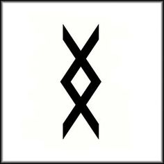 """Inguz, viking symbol means """"where there is a will, there is a way"""" I found this symbol one day, forgot wha it meant and I have been looking for it forever! Finally found out yay!(:"""
