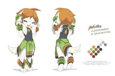 "Milla Basset from Freedom PlanetThis is the 3rd concept art collection I have been working with Stephen DiDuro supertumblario . I unfairly prepared more costumes and expressions for Milla than the other girls, beacause – ""Murder cubes, son!""Other girls:Sash LilacCarol TeaOriginal character design by Ziyo Ling ziyoling.Concept art and additional design by Tyson Tan (me, twitter).Freedom Planet © GalaxyTrail."