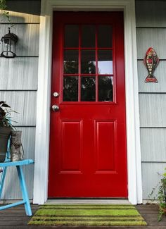 Revamp Homegoods: Houzz // DIY Painting Project: A Colorful Front Door