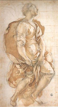 """Studio affresco Cappella Capponi"" by Jacopo Pontormo"