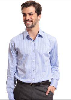 Lojas Renner - Camisa Masculina Listrada- R$ 89,90