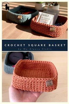 Crochet Pouch, Cute Crochet, Hand Crochet, Crochet Stitches, Small Crochet Gifts, Crochet Backpack, Crochet Bags, Crochet Basket Pattern, Cotton Crochet Patterns