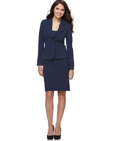 Jones New York Devon Three Button Blazer & Pencil Skirt - Womens ...