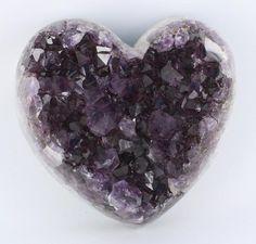 Amethyst Cluster Heart 2