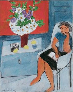 Henri Matisse - Figure with Bouquet, August, 1939