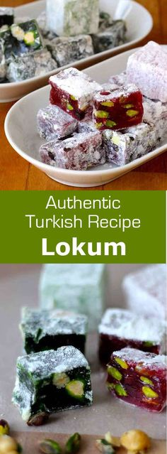 Lokum or Turkish delight is a sweet treat of Turkish origin, made of starch and sugar, flavored and often garnished with almonds, hazelnuts or pistachios. #Turkey #Turkish #196flavors
