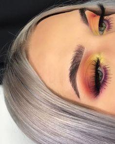 rauchiges Make-up mit orange kupfer gelb rosa Lidschatten Maquiagem para o Dia do Rei Glam Makeup, Cute Makeup, Gorgeous Makeup, Pretty Makeup, Skin Makeup, Makeup Inspo, Eyeshadow Makeup, Makeup Inspiration, Beauty Makeup