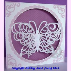 dimensional butterfly card
