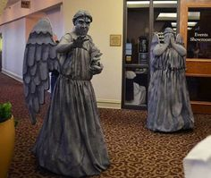 Step by step guide on making Weeping Angel costumes