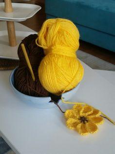 Tığ işi çiçek aplike #amugurumi #handmade #crochet #yarnart