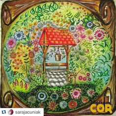 #Repost @sarajacuniak ・・・ Meu poço  #jardimsecreto #jardimsecretoinspire #jardimsecretotop #secretgarden #florestaencantadatop #florestaencantada #fabercastell #querominhacanecatop #Minha_FlorestaEncantada