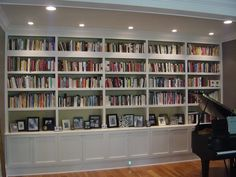Stunning ways to Decorate your Interior Using a Home Library - Decor Around The World Hamptons Living Room, Home, Bookshelves, Bookcase, Bookcase Wall, Home Library Decor, Bookshelves In Living Room, Home Office Design, Home Library