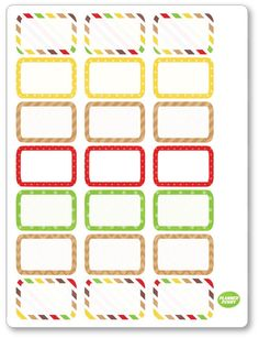 Oktoberfest Half Boxes Planner Stickers for Erin Condren Planners Like Erin Condren, Erin Condren Life Planner, Printable Planner Stickers, Printable Labels, Budget Planner, Happy Planner, Name Tag For School, Custom Planner, Project Life Cards