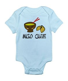 Take a look at this Sky Blue Miso Cute Bodysuit - Infant by CafePress on #zulily today!