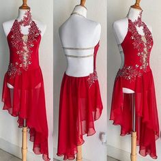 Instagram photo by @2die4costumes • Feb 9, 2017 at 7:49pm UTC ❤ liked on Polyvore featuring costumes, red halloween costumes and red costume Danse Salsa, Contemporary Dance Costumes, Dance Costumes Lyrical, Latin Dance Dresses, Figure Skating Dresses, Ballroom Dress, Dance Outfits, Ladies Dress Design, Dance Wear
