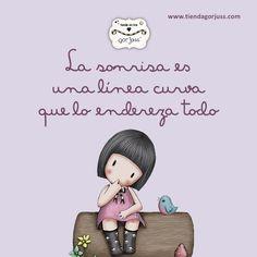 ¡Sonríe! :) #gorjuss #santoro #smile #sonrisa #frases #felizviernes https://www.tiendagorjuss.com