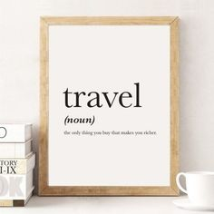 Travel Definition Definition Print Travel Print Word Poster Travel Quote Typography Print Home Decor Funny Definition 1117 print Home Decor Accessories, Decorative Accessories, Travel Bedroom, Travel Room Decor, Decor Scandinavian, European Home Decor, Easy Home Decor, Travel Themes, Room Themes