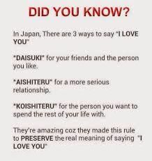 And I heard aishiteru is only used on the death bed, lol. So koishiteru more likely used when you are already dead? They mainly use suki desu or maybe daisuki. Has someone ever heard the use of aishiteru or koishiteru?