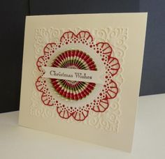 Christmas Rosette by sistersandie - Cards and Paper Crafts at Splitcoaststampers