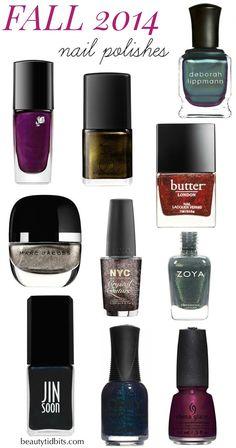 Fall 2014 nail polish colors via @beautytidbits